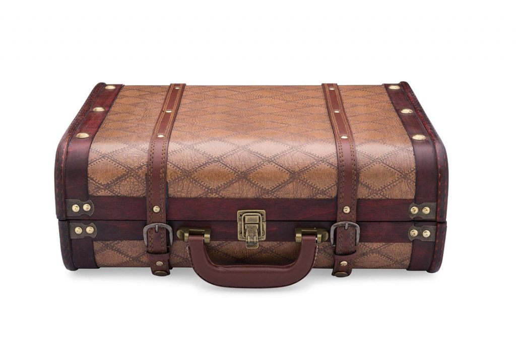 ClearClick Vintage Suitcase